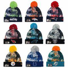 NEW ERA NFL Scenic Cover Splatter Paint Knit Hat Beanie Toque c5da671ec