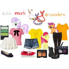 """The Cutie Mark Crusaders (My Little Pony: Friendship is Magic)"" by colorsgalore on Polyvore"