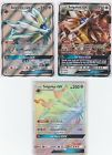 3x LOT Pokemon SUN & MOON Gx  FULL ART Solgaleo 143/149  89/149  155/149