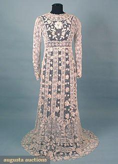 Irish Crochet Wedding Gown, c. 1910