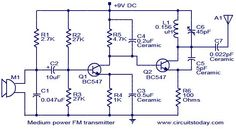Medium power FM transmitter circuit ~ ELECTRONICS SOLUTION
