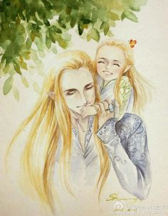 Thranduil and little Legolas. o.0. So. Cute.