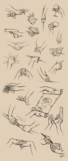 Drawing hands - techniques