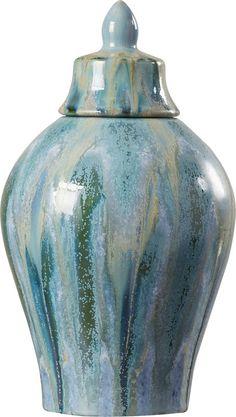 Dripped Ceramic Decorative Urn