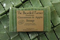 Apple and Cinnamon with Crushed Walnut shells | beard oil, natural soap, lotion, sugar scrub, clay facial mask,