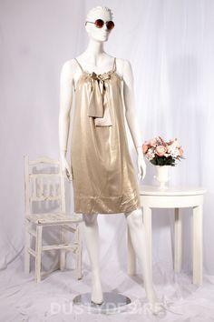 DIANE VON FURSTENBERG DVF ELICIA GOLD SHIFT MINI DRESS SIZE US 4 UK 6 8 XS S