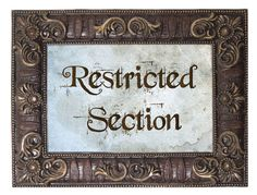 Restricted Section - Harry Potter Inspired Foam Board Signs