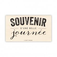 Souvenir Chalk - Tampon caoutchouc - Craft Origine #craftorigine #souvenir #chalk
