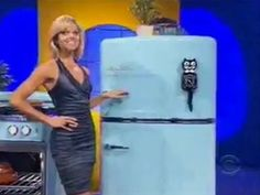 Tiffany Coyne showing Kit-Cat on Let's Make A Deal, March 2012