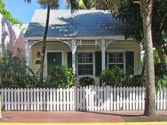 Conch House, Key West- The gingerbread trim on the houses was designed to reflect their employment and way of life.