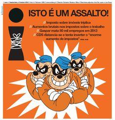 VERGONHA: ISTO É UM ASSALTO ! ...e os assaltos são punidos. Justiça já ! #troika #rabbitinjection