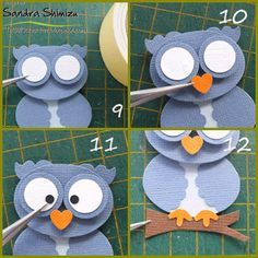 xxx Owl punch art---- i may need this as a guideline for the paper piercing owl card and matching pillow Paper Punch Art, Paper Art, Owl Crafts, Paper Crafts, Arte Punch, Owl Punch Cards, Art Carte, Owl Card, Craft Punches