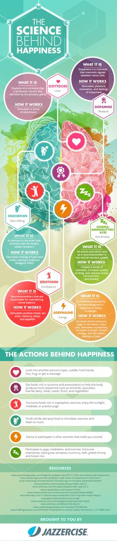 The Science Behind Hapiness Infographic