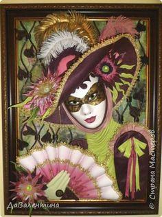 Картина из кожи «Венецианский карнавал-2». Мастер – класс. Часть 1.