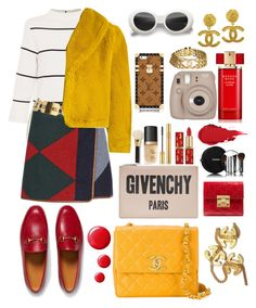 """""""Vintage x Patterns"""" by bananmontan on Polyvore featuring L.K.Bennett, Tory Burch, Gucci, Chanel, Jean-Paul Gaultier, Givenchy, Yves Saint Laurent, Too Faced Cosmetics, Tom Ford and Estée Lauder"""