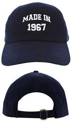 50th Birthday Gift Made 1967 Original Parts Hat Cap Navy