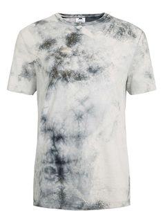 Black Double Tie Dye T-Shirt   TOPMAN