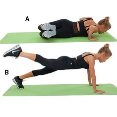 Side sit and plank kick - Tracy Anderson Ab and Butt Workout - Health Mobile Fitness Motivation, Fitness Tips, Tracy Anderson Workout, Health Magazine, Butt Workout, Get In Shape, Glutes, Workout Videos, Ab Exercises