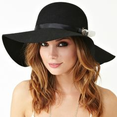 Feathered Floppy Hat from Picsity.com