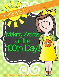FREE Making Words on the 100th Day of School!  You and your students are going to LOVE this 100th Day FREEBIE.  This free literacy activity is part of my large 100th Day bundle.  ********************************************************************************If this FREEBIE is a good fit for you, please check out my ULTIMATE 100th Day of School Kit.