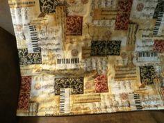 Classical Music Themed.....homemade Baby Quilt