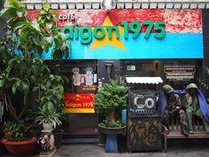Cafe Saigon 1975 - a war memorabilia cafe in Ho Chi Minh City Ho Chi Minh City, Vietnam, War