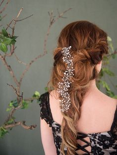 Hair vine by ForestsOfWildflowers is the perfect accessory to this romantic braid.