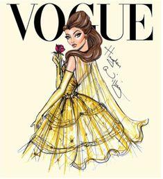 'Disney Divas for Vogue by Hayden Williams: Belle'. Disney and Vogue, what more could you want? Disney Style, Disney Love, Disney Magic, Disney Art, Hipster Disney, Punk Disney, Bella Disney, Hayden Williams, Princesses Disney Belle