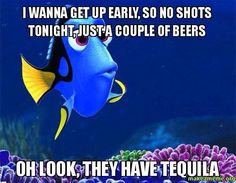 Hilarious. Keep swimming too the Tequila sleep can wait