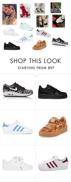 """""""Sapatos Kathy J. (Compras)"""" by diniribeiro on Polyvore featuring moda, NIKE, adidas Originals, Puma, adidas e Wize & Ope"""