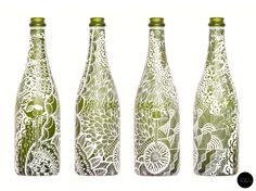 Bottle art, by Toka.
