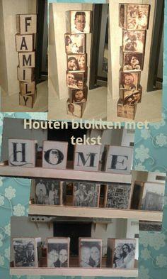 Houten Blokken Met Tekst En Fotou0027s! Leuk Cadeau Voor O.a. Moederdag,  Vaderdag, Geboorte