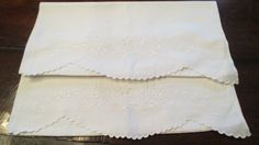 Vintage English Embroidered Pillow Cases