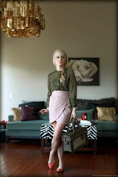 773c6833dcec Outfit Of The Yesterday  Olive + Blush + Orange