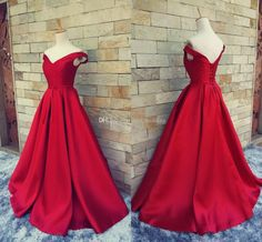 Cheap Long #Prom Dresses# Simple Dark Red Prom Dresses V Neck Off The Shoulder Ruched Satin Custom Made Backless Corset Evening Gowns Formal Dresses Real Image Cheap Short Prom Dresses From Yate_wedding, $130.44| Dhgate.Com