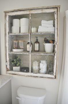 Rustic Country Bathroom Shelves Ideas 18