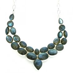 Silver Labradorite Statement Necklace ASD Jewellers