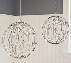 Wire Hanging Globe
