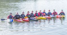 Kayaking with our Outdoor Adventure students.