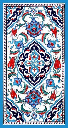 Iznik tiles for alcove Turkish ceramic art Tile Patterns, Pattern Art, Textures Patterns, Turkish Tiles, Turkish Art, Portuguese Tiles, Moroccan Tiles, Motif Oriental, Islamic Tiles