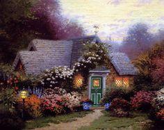 Thomas Kinkade - Weathervane Hutch my favorite of his beautiful paintings...