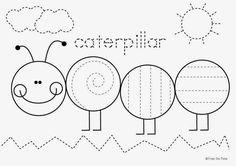 Caterpillar Tracing Worksheet freebie: