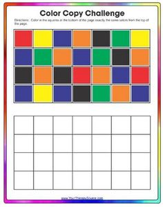 [Source: Your Therapy Source] Encourage visual motor, visual spatial and copying skills with this freebie. Download the Color Copy Challenge from Your Therapy Source