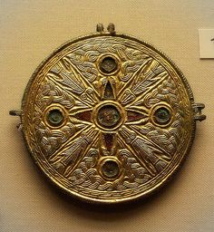 British Museum - jewellery Late 6th cent. Anglo-Saxon  harness fitting.