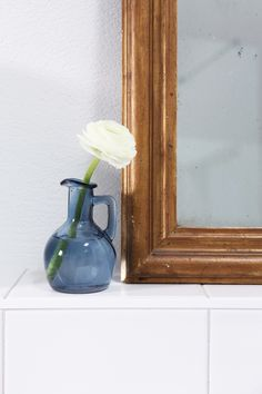 Our guest bathroom. Vase, Mirror, Bathrooms, Home Decor, Wonderful Flowers, Vanity Basin, Mirrors, Nice Asses, Photo Illustration