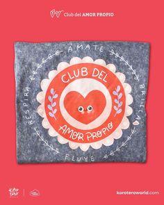 """💗Nuestra camiseta INSIGNIA """"Club del Amor Propio"""" Tela súper suave de algodón, estilo tipo Jean gastado. 🛍Disponible en nuestra tienda…"""" Kids Rugs, Symbols, Letters, Club, Words, Art, Supreme T Shirt, Badges, Store"""