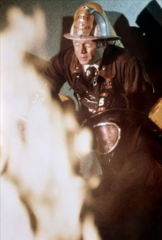 """Steve McQueen in """"The Towering Inferno"""" 1974 Steve Mcqueen Triumph, The Towering Inferno, Steve Macqueen, Disaster Movie, Real Movies, Mc Queen, Fire Fighters, Oscar Winners, Star Cast"""