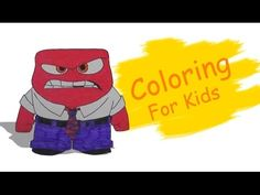 Coloring Pages For Kids With Disney Insde Out Anger Coloring Book Pi n' Mo