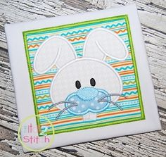 Bunny Face Boy Applique - 4 Sizes! | What's New | Machine Embroidery Designs | SWAKembroidery.com The Itch 2 Stitch