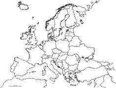 Kontury Europy W Pdf Do Wydruku Map Outline Europe Map Map